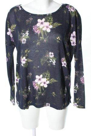 Calliope Strickshirt Blumenmuster Casual-Look