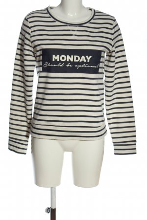 Calliope Sweat Shirt blue-white printed lettering casual look