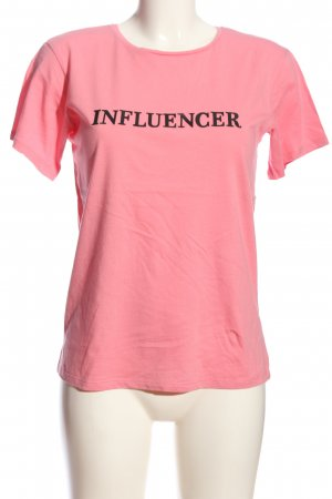 Calliope T-Shirt pink-black themed print casual look