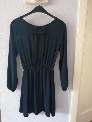 Callisto Chiffon Dress black-dark blue