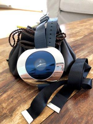 Calvin Klein Breloczek do kluczy stalowy niebieski-czarny Skóra