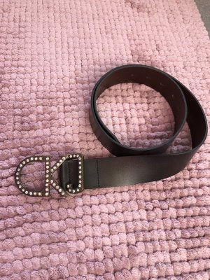 Calvin Klein Leather Belt black brown