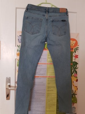 Calvin Klein Jeans Spodnie rurki błękitny