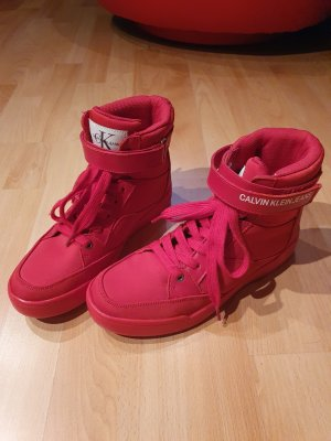 Calvin Klein High top sneaker rood-baksteenrood