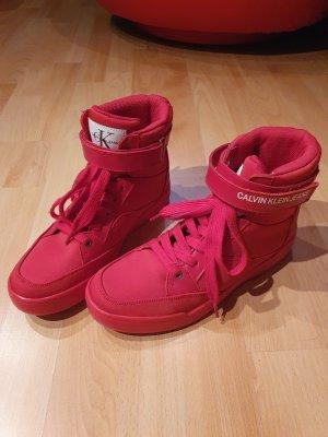 Calvin Klein High Top Sneaker red-brick red