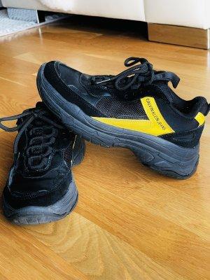 Calvin Klein Jeans Sznurowane trampki żółty-czarny