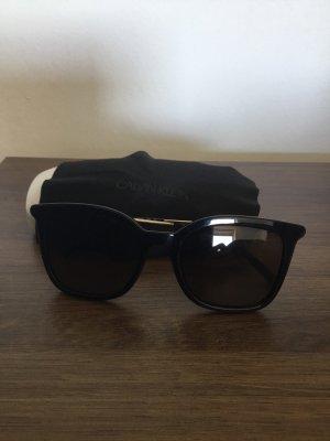 Calvin Klein Gafas de sol redondas negro-color oro
