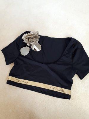 Calvin Klein Maglietta sport nero-oro