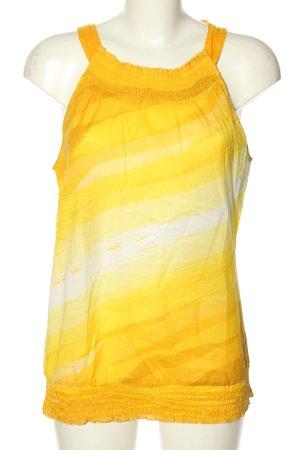 Calvin Klein ärmellose Bluse hellorange-blassgelb Farbverlauf Casual-Look