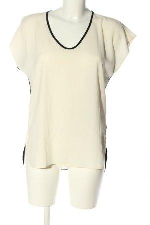 Calvin Klein ärmellose Bluse wollweiß-schwarz Casual-Look