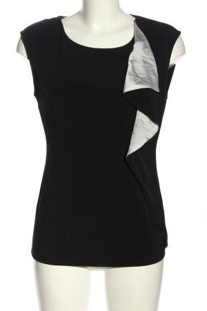 Calvin Klein ärmellose Bluse schwarz-hellgrau Casual-Look