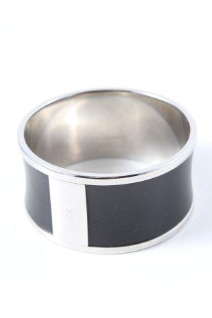 Calvin Klein Brazalete negro-color plata look casual