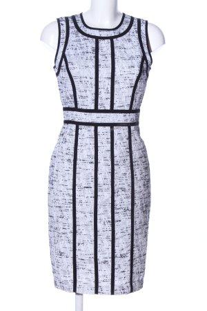 Calvin Klein Bleistiftkleid weiß-schwarz meliert Business-Look