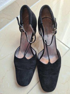 Calvin Klein Blockabsatz Schuhe Riemchen hohe Schuhe