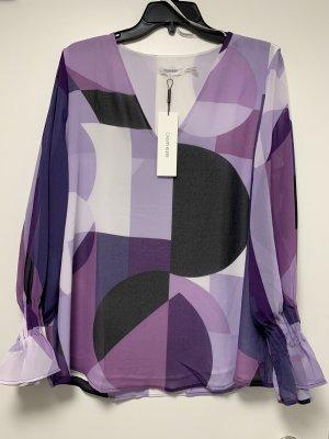 Calvin Klein Blouse à manches longues violet-noir