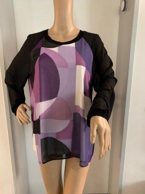 Calvin Klein Blouse à manches longues lilas-noir
