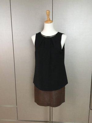 Calvin Klein Bluse Gr.M, schwarz mit Schmuckbügel