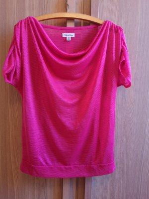 Calvin Klein Top collo ad anello rosa-magenta
