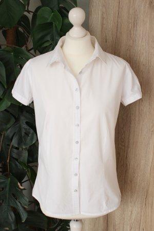 Calvin Klein Bluse Hemdbluse kurzärmlig Weiß M-L