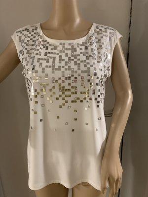Calvin Klein Blouse à manches courtes blanc