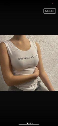 Calvin Klein Top básico blanco-negro