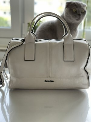 Calvin Klein Borsa da bowling bianco-bianco sporco