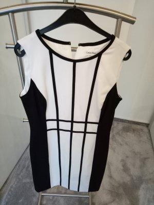 Calvin Klein Manteljurk wit-zwart