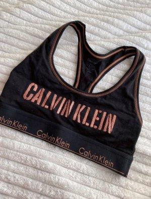 Calvin Klein Haut bustier noir-or rose