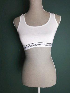 Calvin Klein Débardeur de sport blanc-noir