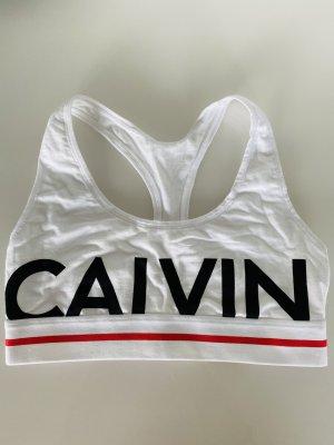Calvin Klein Biustonosz biały-czarny Bawełna