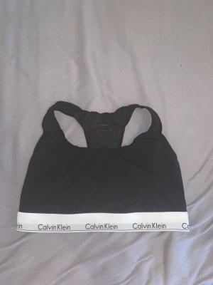 Calvin Klein Top tipo bustier negro-blanco