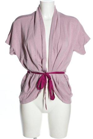 Calvin Klein Cardigan lila-pink Zopfmuster Casual-Look
