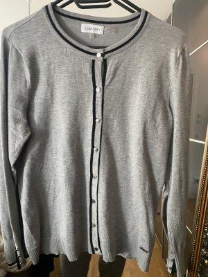 Calvin Klein Cardigan Pullover S grau schwarz
