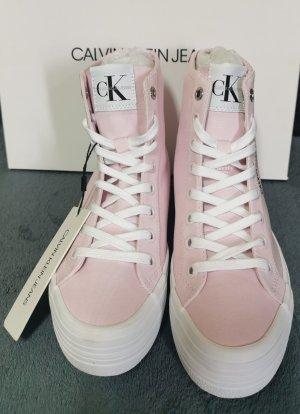 Calvin Klein Jeans Wysokie trampki jasny różowy