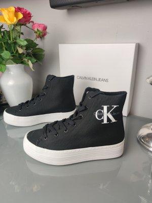 Calvin Klein CK high top Sneaker Gr 38 schwarz weiß