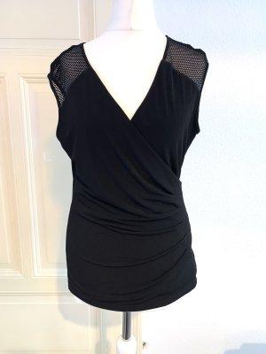 Calvin Klein Camisa de malla negro