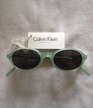 Calvin Klein Gafas de sol ovaladas verde grisáceo acetato