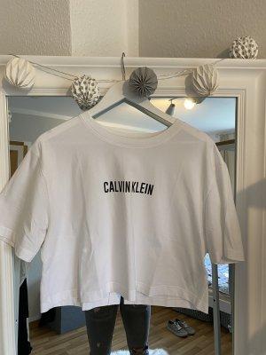 Calvin Klein Camisa recortada blanco