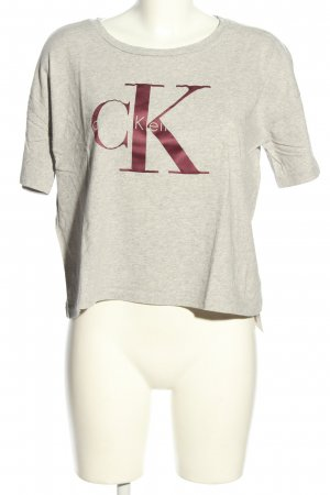 Calvin Klein Cropped Shirt light grey-pink flecked casual look