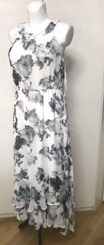 Calvin Klein Damen Blumen Kleid Schwarz Weiß S/M (8)