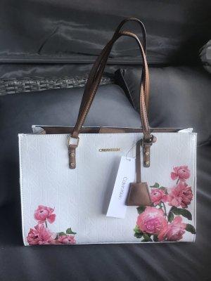 Calvin Klein Damen Handtasche Logo Blumen 35x24x15cm