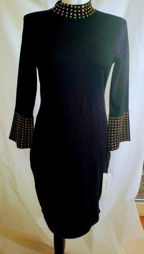 Calvin Klein Damen Kleid  Black Gold Medium Neu