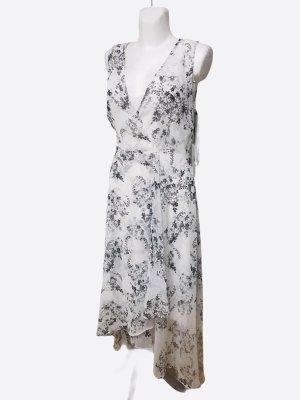 Calvin Klein Szyfonowa sukienka czarny-biały