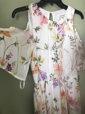 Calvin Klein Damen Sommer Blumen Kleid S