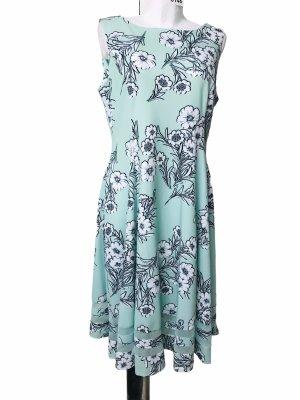 Calvin Klein Damen Sommer Kleid Mint Blimen Grün XXL