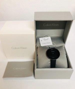 Calvin Klein Damen Uhr, schwarz, schmal, elegant