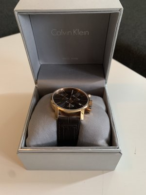 Calvin Klein Zegarek automatyczny w kolorze różowego złota-ciemnobrązowy