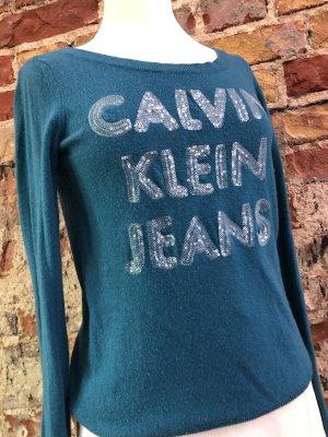CALVIN KLEIN Designer Pullover Strickpullover ganz weich gr. S 36