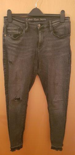Calvin Klein Stretch jeans donkergrijs