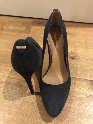 Calvin Klein dunkelblaue High Heels